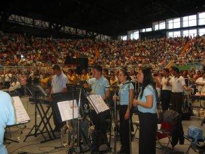 El Coro que animó la Santa Misa y todo los demás momentos del Congreso.
